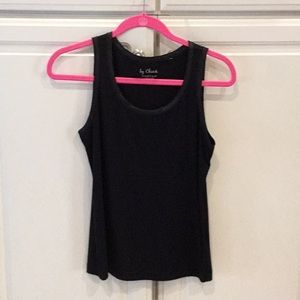 Chico's Black Tank w/ Satin Trim